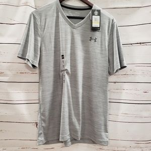 Men's Under Armour gray vneck t shirt new loose
